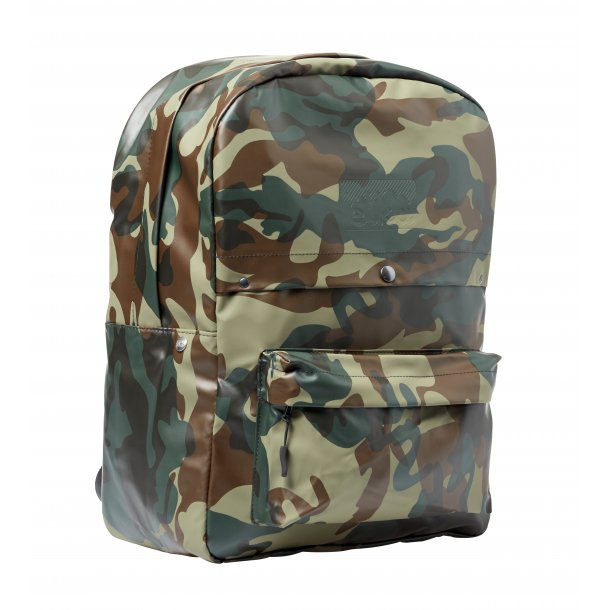 PVC Backpack - Green Camouflage