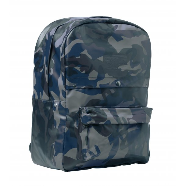 PVC Backpack - Blue Camouflage
